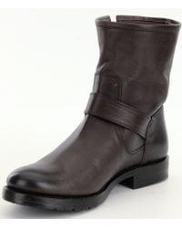 Frye   Black Natalie Short Engineer Boots   Lyst