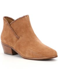 Jack Rogers | Brown Sadie Whipstitch Trim Booties | Lyst