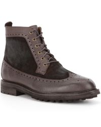 Polo Ralph Lauren | Brown Men ́s Nickson Leather & Suede Lace-up Boots for Men | Lyst
