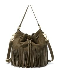 Fossil | Green Jules Fringed Large Drawstring Cross-body Bag | Lyst