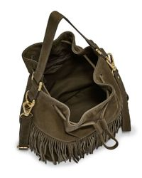 Fossil - Green Jules Fringed Large Drawstring Cross-body Bag - Lyst