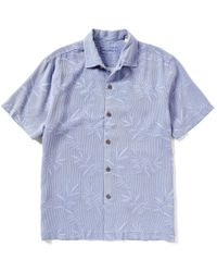 Tommy Bahama | Blue Short-sleeve Luau Floral Woven Shirt for Men | Lyst