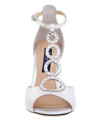 Nina - Natural Cathy Swarovski Dress Sandals - Lyst