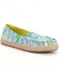 Sanuk | Blue Funky Fiona Slip-on Shoes | Lyst
