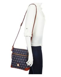 Dooney & Bourke | Blue Nfl Collection Houston Texans Cross-body Bag | Lyst