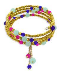 Panacea - Blue Coil Bracelet - Lyst