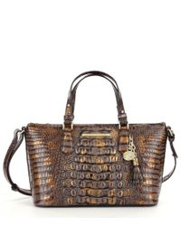Brahmin | Brown Melbourne Collection Duxbury Croco-embossed Satchel | Lyst