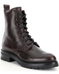 Frye | Black Julie Lace-up Combat Boots for Men | Lyst