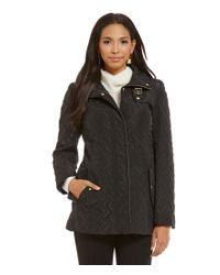 Cole Haan | Black Signature Single Breasted Essential Quilted Jacket | Lyst