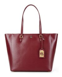 Lauren by Ralph Lauren | Red Newbury Collection Halee Tote | Lyst