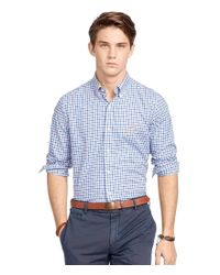 Polo Ralph Lauren | Blue Plaid Twill Sport Shirt for Men | Lyst