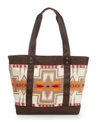 Pendleton - Brown Large Canvas Tote - Lyst