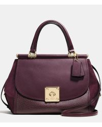 COACH | Purple Mixed Leather Drifter Carryall | Lyst