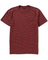 John Varvatos | Red Star Usa Micro Stripe Short-sleeve Pocket Tee for Men | Lyst