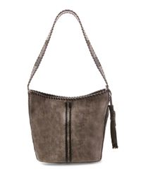 Steve Madden | Multicolor Steven By Macey Whip-stitched Hobo Bucket Bag | Lyst