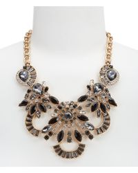 Belle By Badgley Mischka - Metallic Multi-stone Statement Necklace - Lyst