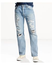 Levi's | Blue Levi ́s® 501® Distressed Original-fit Straight Jeans for Men | Lyst