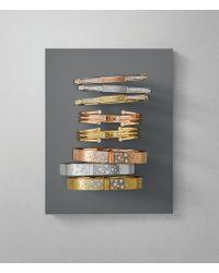 Michael Kors - Pink Modern Brilliance Crystal Hinged Bangle Bracelet/rose Goldtone - Lyst