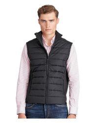 Polo Ralph Lauren | Black Paneled Full-zip Vest for Men | Lyst