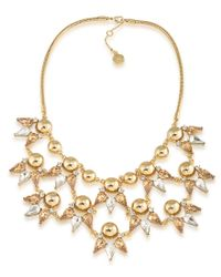 Trina Turk | Gold-tone Metallic Sphere And Crystal Statement Necklace | Lyst