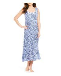 Eileen West | Blue Leaf-print Ballet Nightgown | Lyst