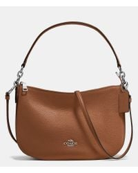 COACH | Brown Chelsea Crossbody In Pebble Leather | Lyst