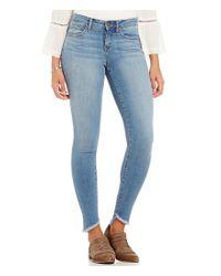 William Rast   Blue Fray Hem Perfect Skinny Jeans   Lyst