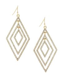 Jessica Simpson | Metallic Dancing In The Moonlight Pavé Diamond Drop Earrings | Lyst