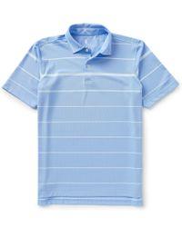 Fairway & Greene | Blue Carter Stripe Short-sleeve Tech Pique Polo Shirt for Men | Lyst