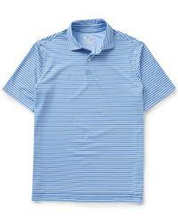 Fairway & Greene | Blue Lewis Stripe Short-sleeve Tech Jersey Polo Shirt for Men | Lyst
