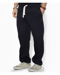 Polo Ralph Lauren   Black Big & Tall Classic Fleece Drawstring Pants for Men   Lyst