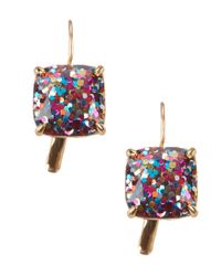 kate spade new york | Multicolor Small Square Drop Earrings | Lyst