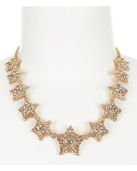 kate spade new york | Metallic Bright Star Collar Necklace | Lyst