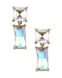 kate spade new york | Multicolor Shine On Baguette Drop Earrings | Lyst