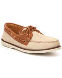 Sperry Top-Sider | Brown Men ́s Gold Authentic Original 2-eye Boat Shoe for Men | Lyst