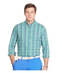 Polo Ralph Lauren | Green Big & Tall Checked Cotton Poplin Shirt for Men | Lyst