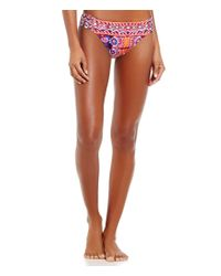 La Blanca - Multicolor Global Perspective Ikat Print Side Shirred Hipster Bottom - Lyst