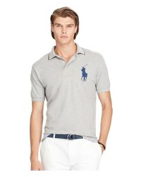 Polo Ralph Lauren | Gray Classic-fit Big Pony Short-sleeve Solid Polo Shirt for Men | Lyst
