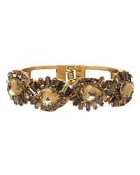 Belle By Badgley Mischka | Metallic Abstract Rhinestone Cuff Bracelet | Lyst