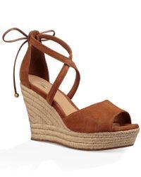Ugg | Brown ® Reagan High Wedge Sandals | Lyst