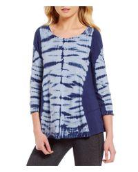Calvin Klein | Blue Performance Mirror Tie-dye Knit Top | Lyst