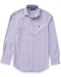 Polo Ralph Lauren   Purple Polo Golf Performance Check Twill Long-sleeve Woven Shirt for Men   Lyst