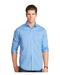 Polo Ralph Lauren | Blue Big & Tall Twill Estate Long-sleeve Woven Shirt for Men | Lyst