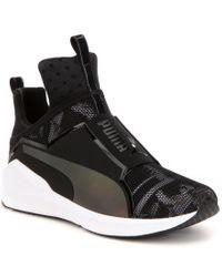 PUMA   Black Fierce Swan Stretch Ariaprene Slip On Hi Top Sneakers for Men   Lyst