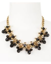 kate spade new york | Metallic Sunset Blooms Flower Frontal Necklace | Lyst