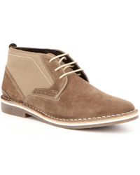 Steve Madden | Brown Men ́s Hotshot Leather Two Tone Lace Up Chukka Boots for Men | Lyst