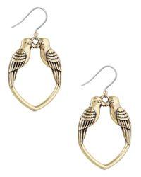 Lucky Brand | Metallic Kissing Bird Drop Earrings | Lyst