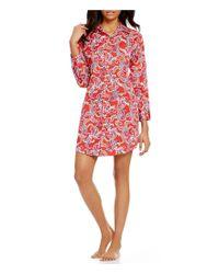 Lauren by Ralph Lauren | Red Paisley His Shirt Sateen Sleepshirt | Lyst