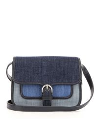 MICHAEL Michael Kors | Blue Cooper Color Block Denim Cross-body Bag | Lyst