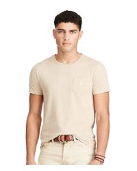 Polo Ralph Lauren | Natural Standard Fit Jersey Pocket Short-sleeve Tee for Men | Lyst